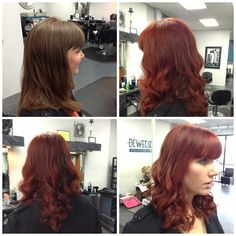 Our stylist Ashley got a color makeover with goldwell maxreds