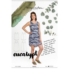 Eucalypt Woven Tank Top and Dress Megan Nielsen Sewing Pattern Size Dressmaking Fabric, French Seam, Dress Sewing Patterns, Holiday Dresses, Top Pattern, Tank Dress, Fabrics, Pattern Library, Tank Tops