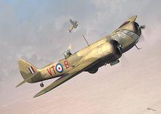 Bristol Blenheim Mk I - K7107 - No 30 Squadron RAF, Egypt - 1940 Aviation Theme, Aviation Art, Ww2 Aircraft, Military Aircraft, Bristol Blenheim, Military Drawings, Aircraft Painting, Airplane Art, Aircraft Pictures