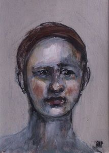 Image of Small Painted Portrait  - Alphons