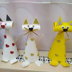 Crafts for kids - 20 random DIY ideas Toilet Paper Roll Crafts, 3d Paper Crafts, Paper Crafts For Kids, Easy Crafts, Diy And Crafts, Arts And Crafts, Diy Paper, Animal Crafts For Kids, Diy For Kids