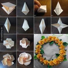 Papierblumen, so leicht geht's!