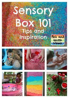 tons of idea for sensory boxes