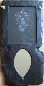 Self Portrait of Artist with Fibromyalgia Abstract in Mirror Irish Art, Face Off, Macabre, Fibromyalgia, Mad, Mirror, Portrait, Abstract, Artist