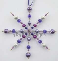 beaded wired snowflakes - Yahoo Search Results