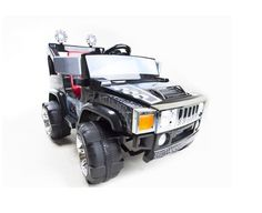 Ride On Toy Black Hummer Jeep Runner Battery Electric 12V  #Bestrideoncar