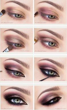 Dark eye make up
