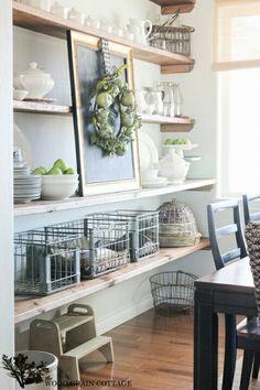 Shelves for utility room