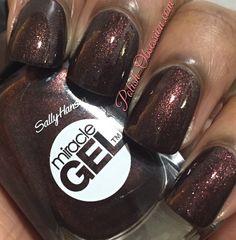Sally hansen miracle gel: spice age a brown shimmer nail polish nails i Nail Polish Colors, Gel Nail Polish, Gel Nails, Manicures, Sally Hansen Nails, Barbie, New Nail Art, Gel Nail Designs, Nails Design