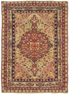 LAVER KIRMAN, Southeast Persian 4ft 4in x 6ft 0in Late 19th Century
