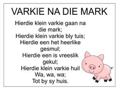 Afrikaans Is Maklik Preschool Poems, Rhyming Activities, Kids Poems, Toddler Learning Activities, Preschool Worksheets, Book Activities, Kids Learning, Grade R Worksheets, Free Printable Alphabet Worksheets