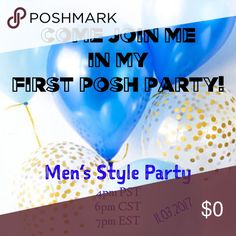 🎉Come Join Me In My First Posh Party🎉 I am beyond thrilled to be hosting my first Posh party! I will be selecting host picks on the scheduled date, so feel free to comment and like this post to be considered for a host pick. Invite and tag your PFF's as well... the more the merrier! Party with you all soon!🎉 Shirts