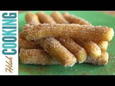 Mexican churros! Churros are fried choux pastry rolled in cinnamon and sugar, sometimes dipped in melted chocolate. They're easy, too!