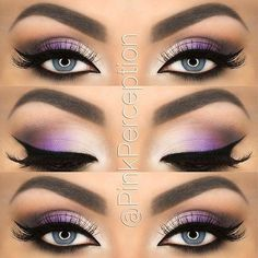 If you'd like to enhance your eyes and also increase your good looks, using the very best eye make-up tips can help. You need to be sure you put on makeup that makes you start looking even more beautiful than you are already. Purple Eye Makeup, Colorful Eye Makeup, Skin Makeup, Eyeshadow Makeup, Silver Makeup, Grey Eyeshadow, Eyeshadow Palette, Purple Eyeshadow Looks, Dramatic Eyeshadow