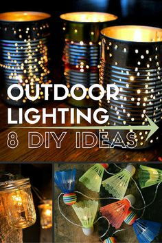Make your outdoor spaces twinkle with atmosphere with one of these DIY outdoor lighting projects.