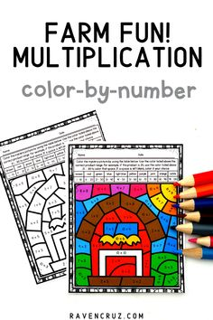 Let your 3rd-grade and 4th-grade students practice multiplication with these farm-themed multiplication color-by-number worksheets. #mathwithraven #homeschool Multiplication Strategies, Multiplication Worksheets, Number Worksheets, Math Resources, Math Activities, Common Core Math Standards, Farm Fun, Fourth Grade Math, Homeschool Math