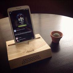 #passive #speaker #ipad #wood #amplifier