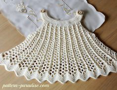 This pattern can be made into a top or dress. It is so easy and so pretty too. It has an elegant swing to it and the back post and front post double crochets make a pretty vertical rib. Decorate with some flowers or beads around the neckline and it will be a whole new look. Pair it with a diaper cover or bloomers for another look. One pattern, many looks! Materials: Made with DK yarn. Skill level: Easy/IntermediateSize: 12-18 months 2-3T 4-5TI love to see your finished projects so please...