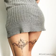 The 10 most attractive areas of the body get a tattoo if you are a woman tatoo feminina - tattoo fem Mini Tattoos, Foot Tattoos, Body Art Tattoos, Tattoos On Thighs, Sexy Tattoos, Pretty Tattoos, Beautiful Tattoos, Tattoo Bein Frau, Tigh Tattoo