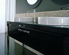 Deko Bathroom Vanity from Idea Group Black Vanity Bathroom, Bathroom Vanity Cabinets, Bathroom Furniture, Modern Bathroom, Bathroom Vanities, Drawer Unit, Beautiful Bathrooms, Wood Turning, Bathroom Inspiration