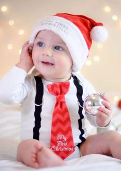 c534a35cc baby boy 1st Christmas outfit Writing Ties Christmas Ties, My First  Christmas, Christmas Holidays