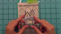 How to make a Lighted Haunted House { Lawn Fawn }