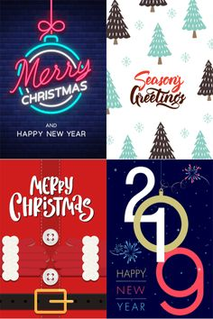 A sample of four designs from our 2018 Christmas / 2019 New year collection