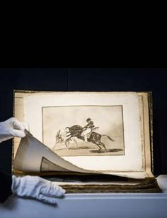 Apr 4 17 ArtDaily- Francisco José de Goya y Lucientes, La Tauromaquia, the complete set of 33 etchings, 1816. Esstimate: £300,000 - 500,000. Sold for: £512,750 ($637,400). Photo: Sotheby's.