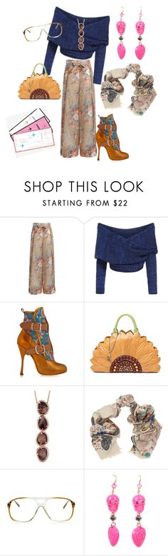 """""""Casual Fun"""" by bromaxx ❤ liked on Polyvore featuring Zimmermann, Vivienne Westwood, Braccialini, Pashma and GlassesUSA"""