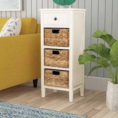 Beachcrest Home Santa Cruz Solid Wood Drawer Storage Bench & Reviews | Wayfair Cubby Storage, Storage Drawers, Storage Cabinets, Storage Spaces, Wood End Tables, End Tables With Storage, Wood Drawers, Drawer Handles, Wood Cabinets