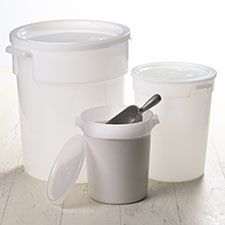 Have been looking for flour/sugar/etc storage containers for a long time - these are the first ones that look big enough to scoop out of with the measuring cup without making a mess!