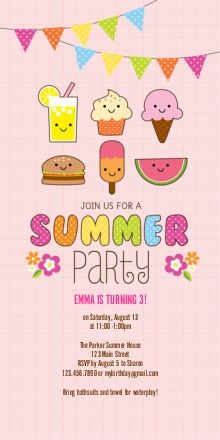 kawaii party invitation - Google Search