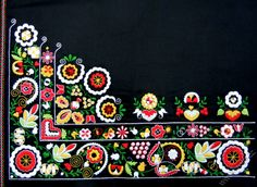 Embroidery on the apron for folk costume,  Czech Republic