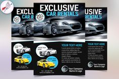 Exclusive Car Rental Flyer Template by @Graphicsauthor