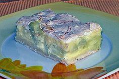 Rhabarber - Quark - Kuchen unter Baiserhaube (Rezept mit Bild)   Chefkoch.de''''' anstatt der Staerke hab ich ein Paeckchen deutsches Puddingpulver genommen + 1 Essloeffel Staerke.