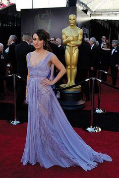 Lavender lace sheer dress and Mila Kunis=Hotness