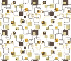 Mid-Century Modern - Retro Squares fabric by studiofibonacci on Spoonflower - playful use of the square shape, with the rounded corners to ensure it is easy on the eye and muted colours are in keeping with the aesthetic. Mid Century Modern Fabric, Mid Century Modern Kitchen, Mid Century Art, Mid Century Decor, Mid Century Modern Design, Motif Vintage, Vintage Patterns, Modern Patterns, Modern Graphic Design