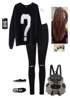 """A Question To Ask You"" by hanakdudley ❤ liked on Polyvore featuring Miss Selfridge, Vans, Jac Vanek and Poverty Flats"