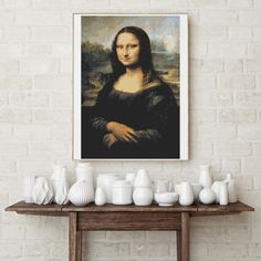 Counted Cross Stitch KIT Mona Lisa by Leonardo da Vinci by TheArtofCrossStitch on Etsy. Also available in PDF. #crossstitch