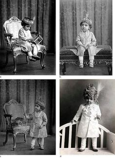 Charming and beautiful portraits of the Maharaj Kumar Hanwant Singh Ji Jodhpur a little child photographed by Vandyk, London 1900s.