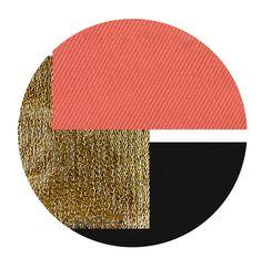 Coral // Gold // Black