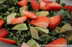 Sunfired raw food recipes from dr aris latham optimal well great recipe for going raw kale avocado strawberry salad almost raw vegan forumfinder Image collections