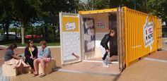 Hastings in New Zealand have converted an old shipping container in to a movable engagement pop-up hub. The topic being - How would you change the Hastings CBD?. It also has an online platform called My Voice My Choice including a website and Facebook Page Community Building, Community Art, Urban Intervention, Urban Renewal, Engagement Ideas, Urban Planning, Public Art, Public Transport, Pop Up Stores