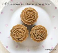 coffee snow skin mooncake