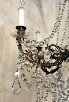 Chandelier, i love the cystral and old brass