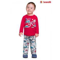 2f2109674 O Pijama Infantil Brandili Menino Carros vai deixar seu pequeno bem  confortável na hora de dormir