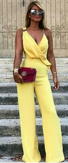 416070439cdca 19 Awesome yellow jumpsuit images