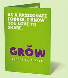 Although the world produces enough food to feed everyone, one in seven people on our planet go to bed hungry each night. Oxfam's GROW campaign is about growing food more sustainably. Do you agree that there should always be enough food for everyone on the planet? This $20 card will help create a future where everyone has enough to eat, always.