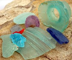 Beach glass... I am totally that person who collects this on the beaches of Mexico... way prettier than sea shells!