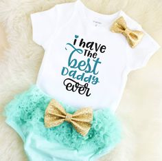 baby girl clothes - daddys girl clothes - baby girl outfits - baby shower gift - Father\'s Day outfit - daddys girl clothes - newborn girl by MMofPhilly on Etsy https://www.etsy.com/listing/522848878/baby-girl-clothes-daddys-girl-clothes